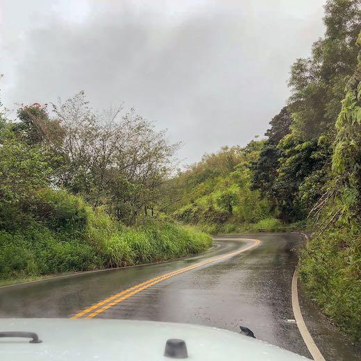 Rainy day on the Hana highway