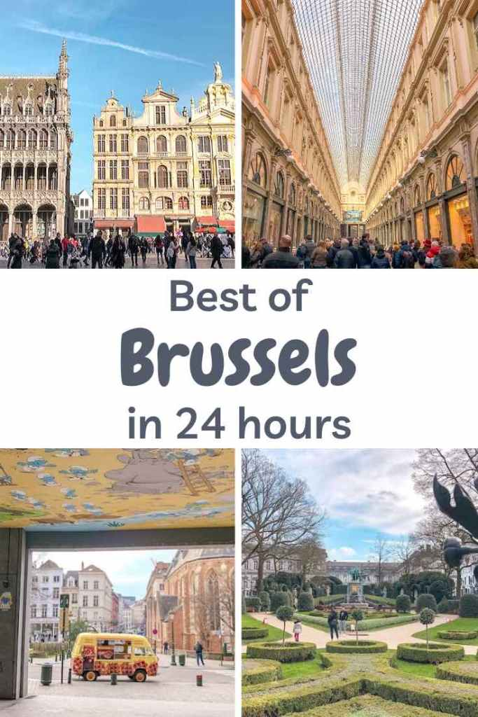 Experience the best of Brussels in one day, from the dazzling Grand Place to its enchanting parks and sumptuous waffles. #belgium #brussels #travelitinerary #itinerary #europe #daytrip