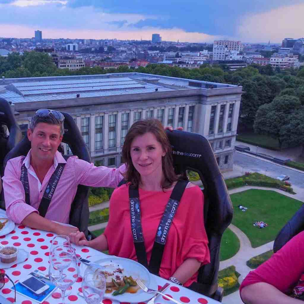 Dinner in the Sky in Brussels at the Cinquantenaire Park