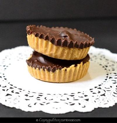 Homemade Chocolate Peanut Butter Cups from Cosmopolitan Cornbread