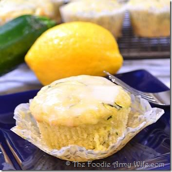 Lemon Zucchini Muffins from The Foodie Army Wife