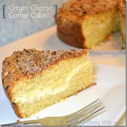 cream cheese coffee cake from The Foodie Army Wife