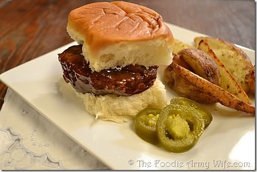 Whiskey Sliders from The Foodie Army Wife