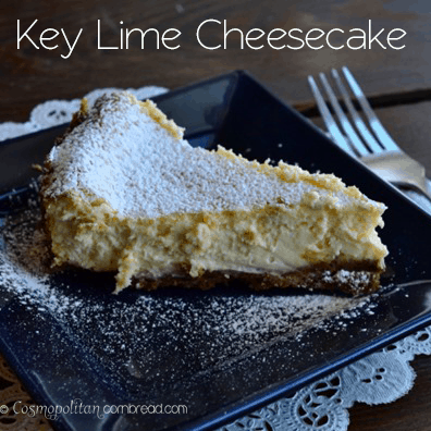 Key Lime Cheesecake with Biscoff Crust from Cosmopolitan Cornbread