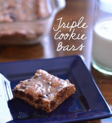 Triple Cookie Bars | The Foodie Army Wife