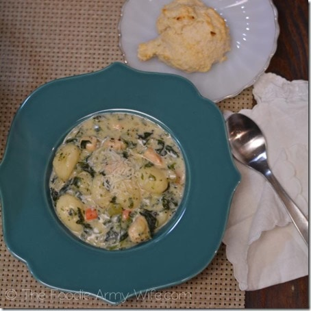 Chicken Gnocchi Soup with Drop Biscuits4