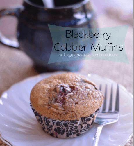 Blackberry Cobbler Muffins from Cosmopolitan Cornbread