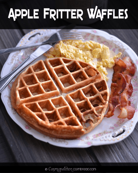 Delicious Apple Fritter Waffles from Cosmopolitan Cornbread