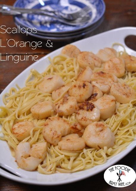 Scallops L'Orange & Linguine