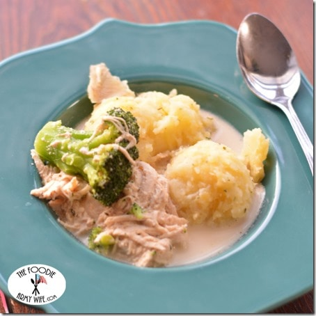 Crockpot Creamy Chicken Broccoli Soup square