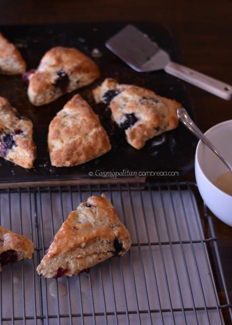 Wild Blackberry Scones with Lemon Glaze from Cosmopolitan Cornbread