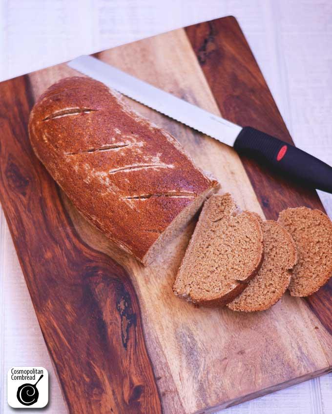 Homemade Pumpernickel Bread from Cosmopolitan Cornbread
