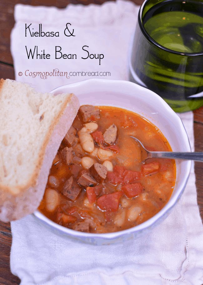 Kielbasa and White Bean Soup from Cosmopolitan Cornbread