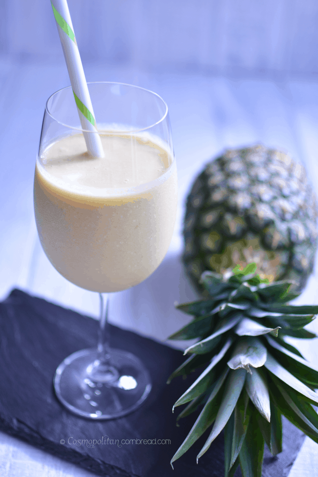 Piña Colada Summer Smoothie | 5 Ingredients or Less Recipes