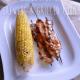 Honey BBQ Chicken Skewers & Grilled Corn
