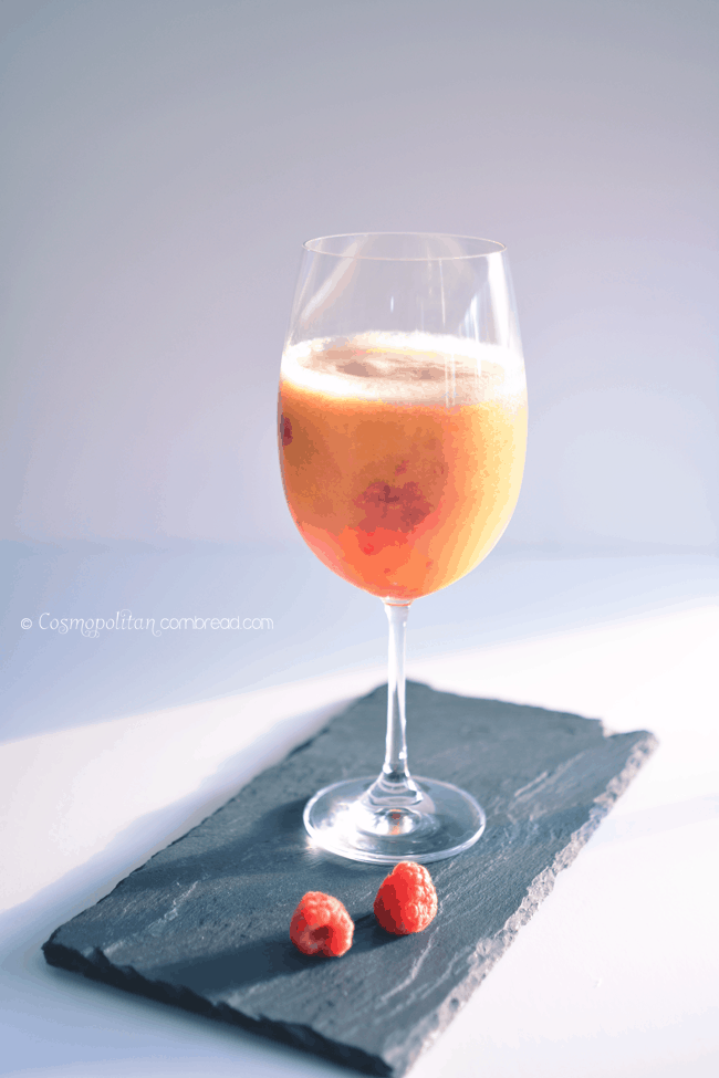 Peach Berry Cocktail by Cosmopolitan Cornbread