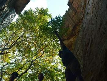 Rock Climbing at Cherokee Rock Village in Alabama