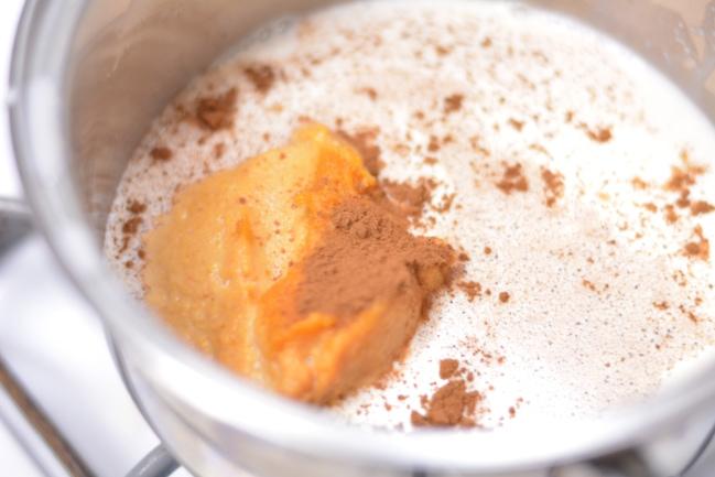 Homemade Pumpkin Spice Latte Creamer with real pumpkin from Cosmopolitan Cornbread