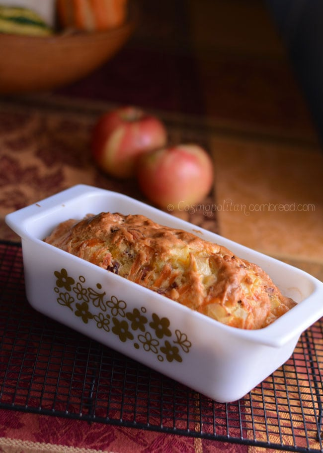 Chunky Bacon & Apple Cheddar Bread from Cosmopolitan Cornbread