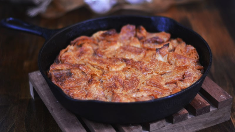 Wickedly Decadent Caramel Bread Pudding from Cosmopolitan Cornbread