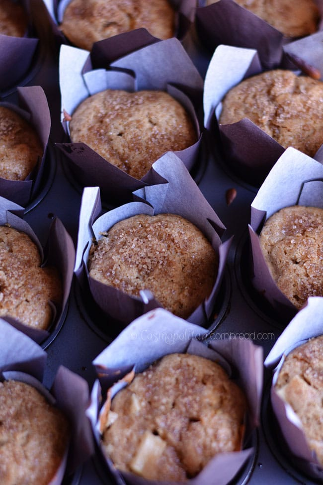 Chunky Apple Muffins from Cosmopolitan Cornbread