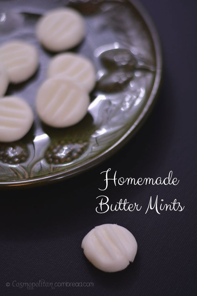 How to make Homemade Butter Mints - a great gift from the kitchen. Learn how at Cosmopolitan Cornbread.