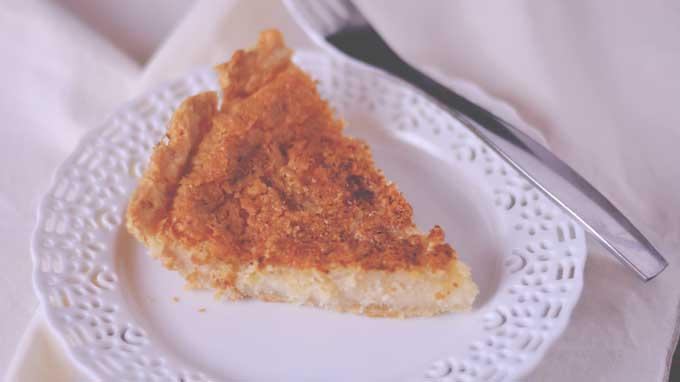 Dutch Sugar Cream Pie (Hoosier Pie)