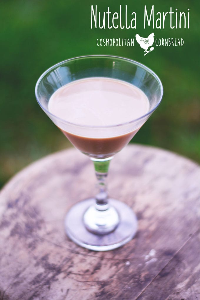 Nutella Martini - a delicious dessert cocktail from Cosmopolitan Cornbread