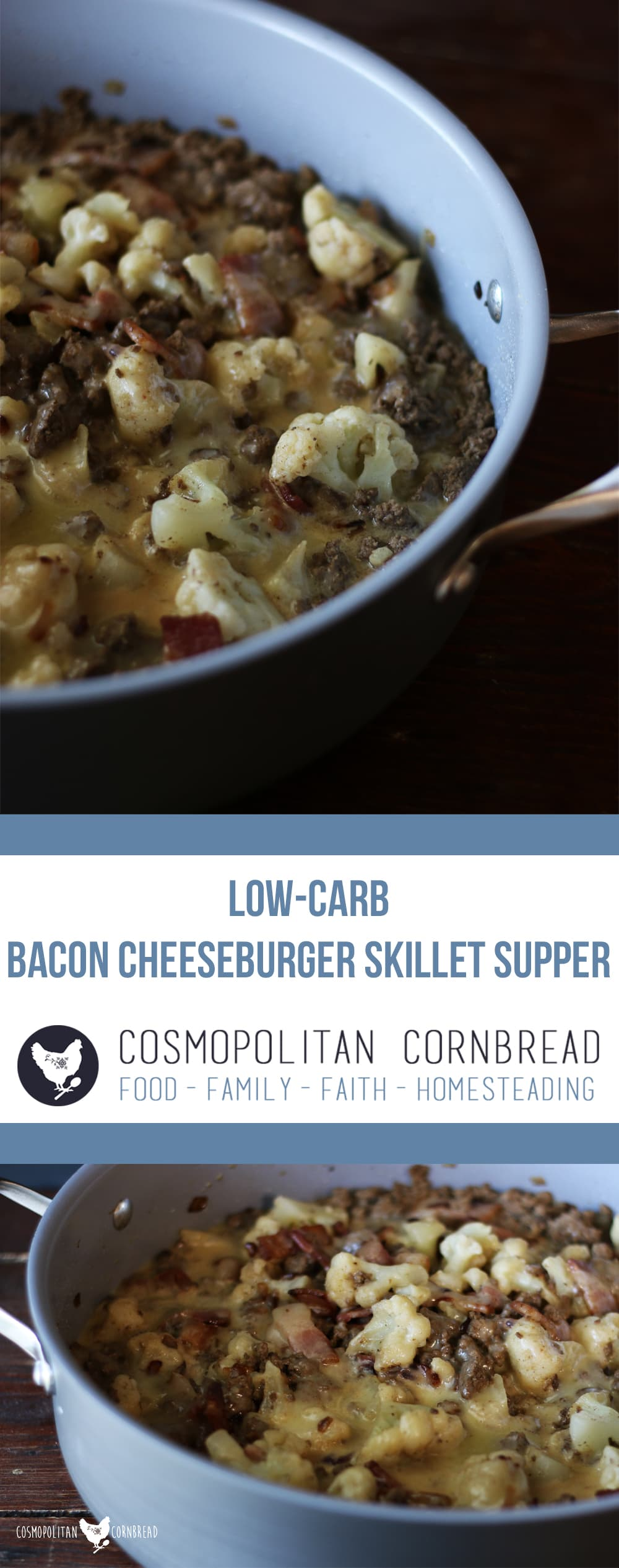 This Bacon Cheeseburger Skillet Supper is not only a delicious one pot meal, but it is also a low-carb supper anyone will love. Get the recipe from Cosmopolitan Cornbread.