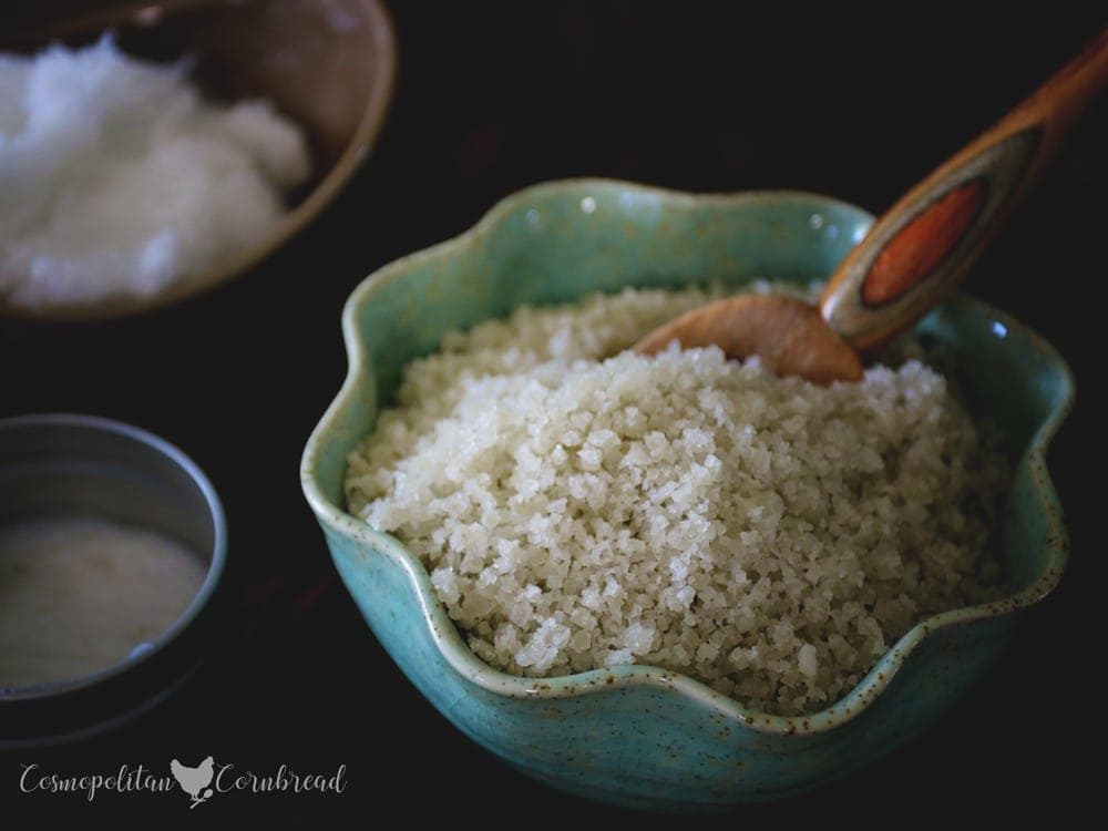 How to Make Homemade Sea Salt Scrub - Making your own sea salt scrub is a great way to have healthy skin and save money. Sea salt scrubs also make a wonderful homemade gift for friends or family.