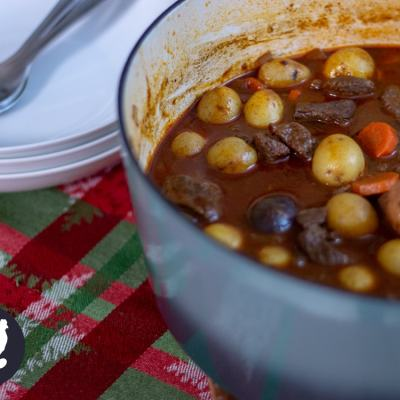 German Goulash Soup for New Year's