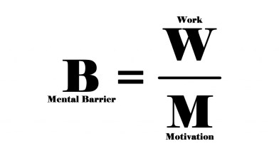 Formula of the mental barrier for Struggle will not make you Succeed