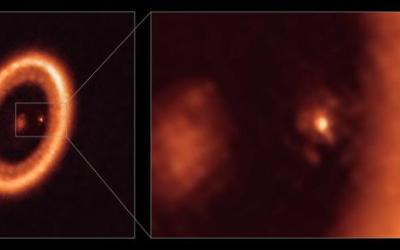 Moon Formation Spotted for First Time!
