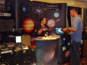 Dawn talks about citizen science to an attendee.
