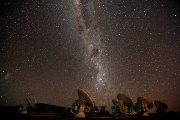 Milky Way over ALMA in Chile