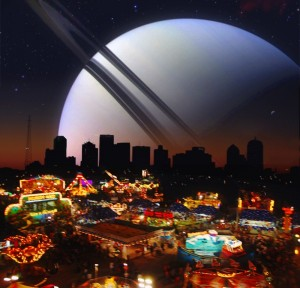 Saturn over carnival