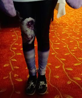 Tiny Intern wears astronaut leggings!