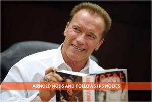 ARNOLD NODS AND FOLLOWS HIS NODES