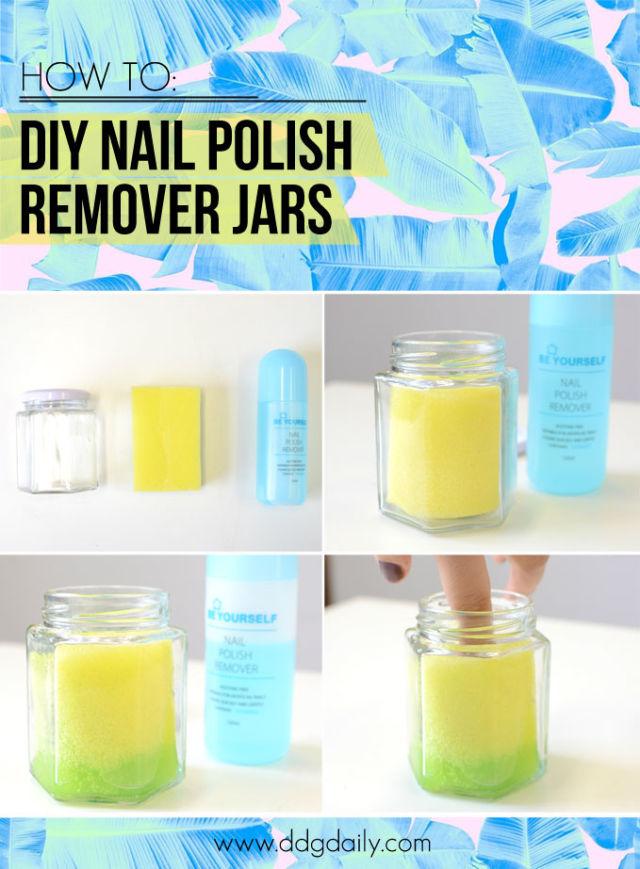 Diy Nail Polish Remover In A Jar