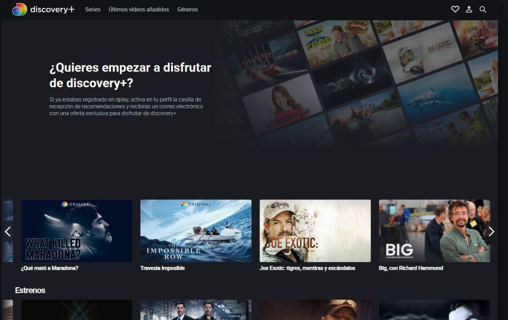 discovery+ la nueva plataforma
