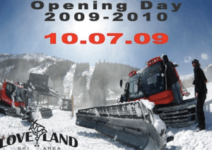 Ski Area Opens First