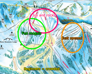 A-Basin map of runs