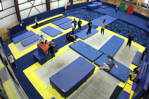 Trampolines at Woodward at Copper — Photo Credit: Copper Mountain