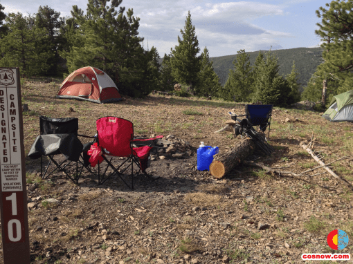 Camping at Gross Reservoir