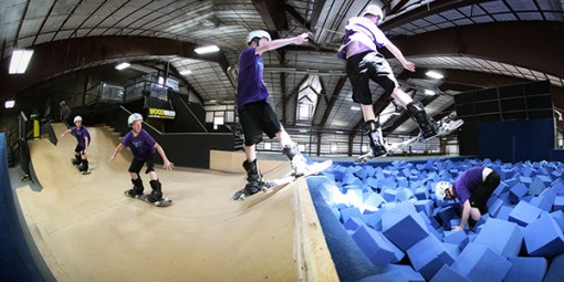 Woodward Barn Copper snowboard mini pit