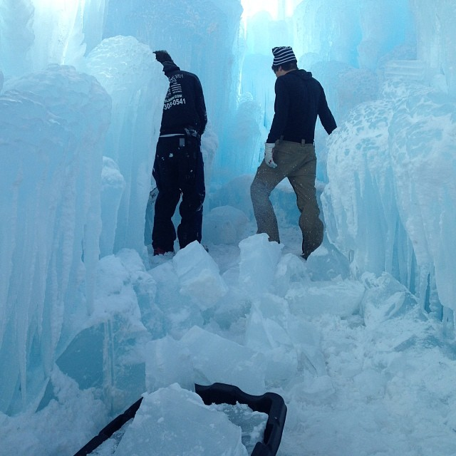 Behind The Scenes At The Ice Castles In Breckenridge