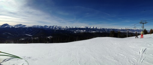 Panorama of mountains from Outback at Keystone
