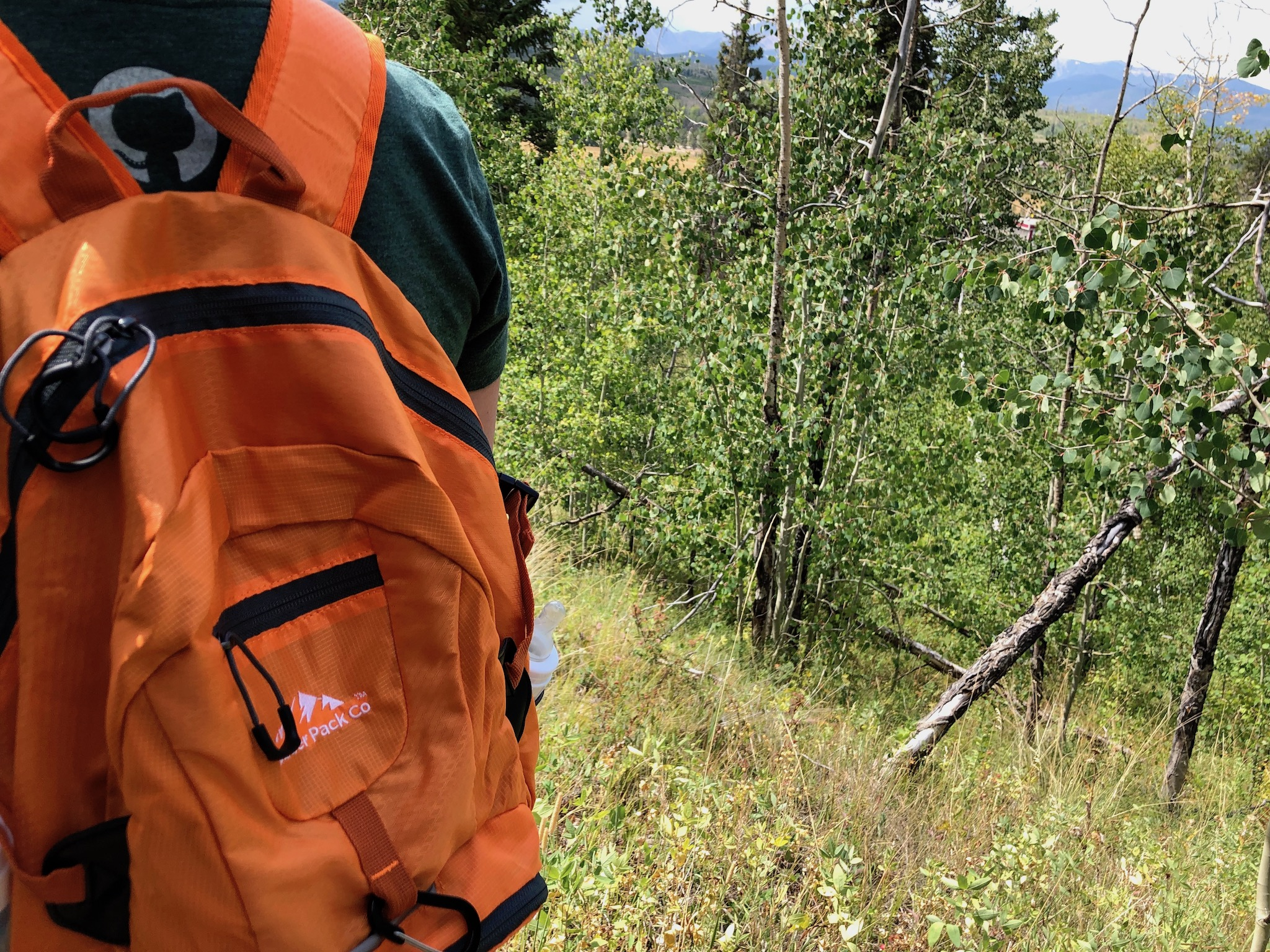 Boulder Pack Co  folding backpack works great on the hill, packs up