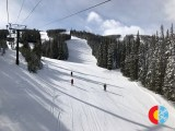 Sunny skies at Winter Park from the chairlift