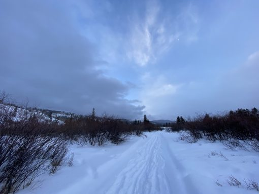 Fraser River trail near Rendezvous in Fraser, Colorado